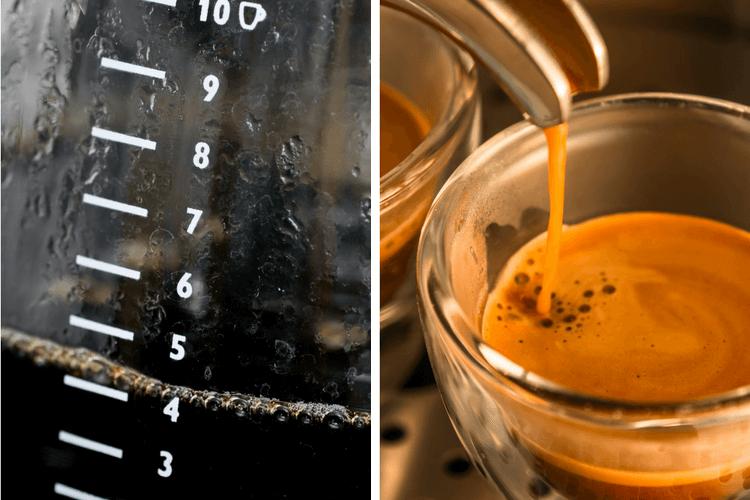 Эспрессо имеет больше кофеина, чем капельного кофе?